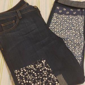 NWT Current Elliot Patchwork Jeans